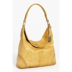Women's Frye 'Campus' Leather Hobo (19.425 RUB) ❤ liked on Polyvore featuring bags, handbags, shoulder bags, banana, frye purses, genuine leather handbags, leather shoulder bag, shoulder strap bags and hobo shoulder bags