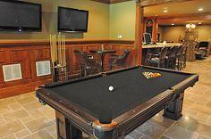 billiards basement...this is an amazing basement