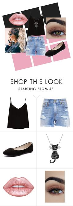 """pink & black"" by sofipalacio on Polyvore featuring moda, Raey, R13, Verali y Amanda Rose Collection"