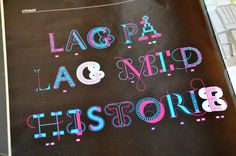 Typotheque: History font family in real life use