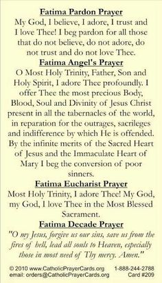 Our Lady of Fatima....pray for us.