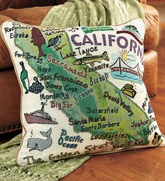 They have an Oregon one, but the picture won't load // American-Made Cotton Jacquard American States Pillows