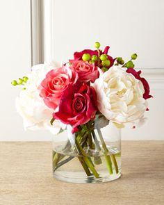 H7K3G John-Richard Collection Candy Cane Faux-Floral Arrangement - floral choices