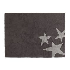 Lorena Canals Three Stars Grey Washable Children's Rug - Machine Washable, Perfect for the Nursery - Handmade from Natural Cotton and Non-Toxic Dyes Childrens Rugs, Machine Washable Rugs, Lorena Canals, Star Rug, Nursery Rugs, Grey Elephant, Star Designs, Grey Rugs, Home Gifts