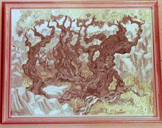 """""""Olives in Majorca"""" 1963 B.R.Barber Oil on hardboard"""