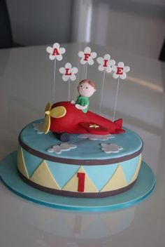 CakingItUp aeroplane cake airplane cake - up in the air birthday party Toddler Birthday Cakes, Planes Birthday, Bithday Cake, Birthday Cupcakes, Planes Cake, Airplane Cakes, Airplane Party, Baby Shower Cakes, Baby Cakes