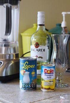 Classic Piña Colada ingredients cookingwithcurls.com