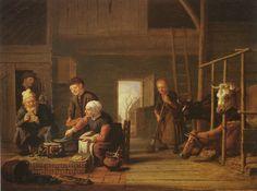 Jan Victors (bapt. June 13, 1619 – December 1679) The farmer's kitchen