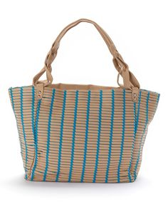 Another great find on #zulily! Christian Livingston Blue Open Weave Tote by Christian Livingston #zulilyfinds