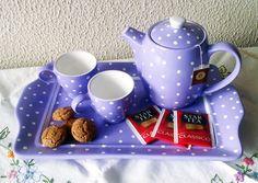 hand painted tea set tutorial *need to use google translate