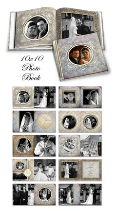 10x10 Square Photo Book Templates - ashedesign.com -- So Pretty!  Nice photography also:)