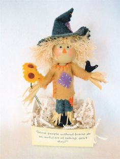 Clothespin Art Doll Scarecrow  Fall Decor by HeartStringsHandmade, $40.00