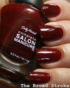 Sally Hansen Red Zin