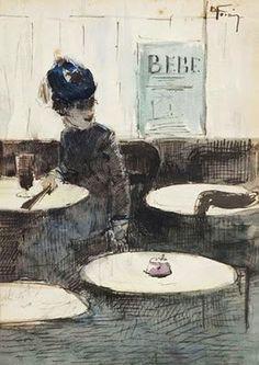 Jean-Louis Forain, Au Cafe