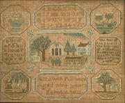 Needlework Sampler  Wrought by Elizabeth P. Moore, Norwich, Connecticut, Dated 1801