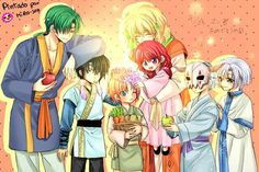 Akatsuki no Yona / Yona of the dawn anime and manga || The dark dragon and the happy hungry bunch. So precious <3