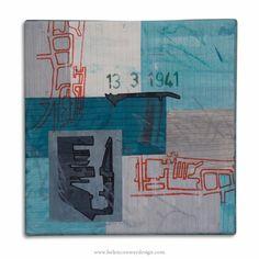 Princes Dock by Helen Conway - Liverpool Overhead Railway Series - Mixed media 30 cm x 30 cm