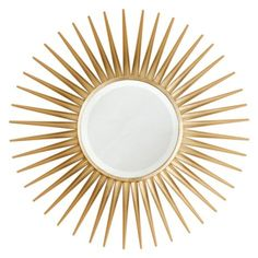 Rey Mirror - Gold from Z Gallerie$499.00  Share Share on emailShare on facebookShare on twitter  SKU#100507158AvailabilityShips from vendor in 1-2 weeks Dimensions34''W x 1''D x 34''H