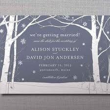 winter wedding invites stationary
