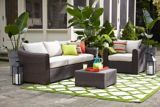 Create a conversation nook you'll love all summer long with the CANVAS Salina Couch. The frame is made of rust-resistant aluminum and weather-resistant resin wi Conversation Area, Backyard Plan, Canadian Tire, Sofa, Couch, Outdoor Furniture Sets, Outdoor Decor, Patio Chairs, Outdoor Living