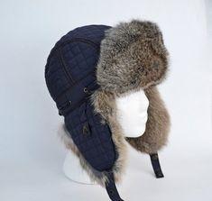 Child Real Fur Hat, Aviator Hat, Ushanka, Russian Hat, Ski Hat,  Rabbit Fur, Fur Hat with Ear Flaps, Warm Hat, Childs Fur Hat, Trapper Hat Winter Wear, Winter Hats, Rabbit Fur Hat, Russian Hat, Fur Hats, Aviator Hat, Trapper Hats, New Look, Ski