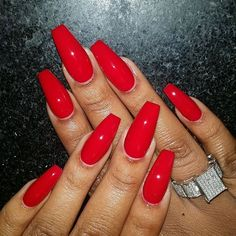 11 amazing red nails for fall