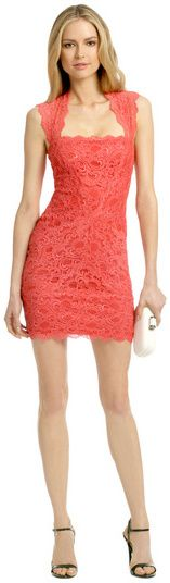 Nicole Miller Coral Fair Lady Dress on shopstyle.com