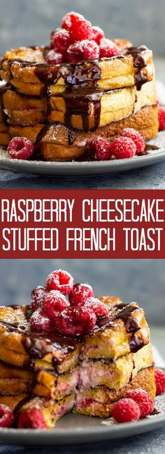 Raspberry Cheesecake Stuffed French Toast | Countryside Cravings