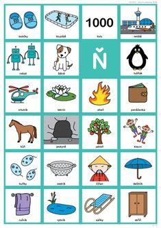 Slovní zásoba ĎŤŇ z dílny Logopedie s úsměvem. Montessori, Education, Logos, School, Logo, Schools, Learning, Teaching, Studying