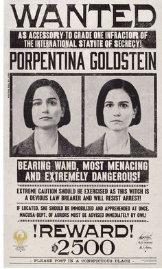 I reallllly love Porpentina ☺️ Tina's such a great character, and Katherine Waterston is great
