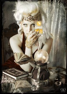 Almost the 'look' for costuming- modern take on vintage fortune teller. Glamour, mystery, intrigue.