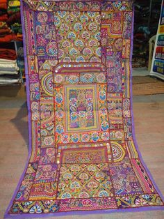 Vintage Indian textile with mirror work
