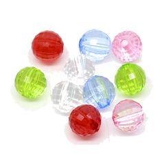 200 fein facettierte Perlen 8mm Farben Mix Acryl faceted Spacer Beads | facettierte Perlen | Kunststoffperlen | Perlen | günstig kaufen bei Bacabella.com | Perlen, Schmuck und Schmuckzubehör zum Schmuck selber machen | Schmuck basteln DIY DoItYourself | ganz individuell und einfach | Schmuckperlen