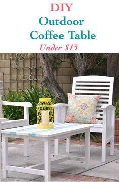 DIY Outdoor Coffee Table - Little Free Monkeys