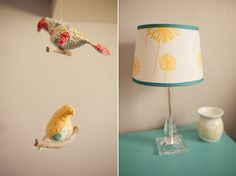 love the birds & the lamp shade
