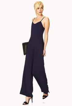 Forget-Me-Not Jumpsuit | FOREVER21 Be unforgettable #MustHave #WideLeg #Jumpsuit