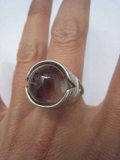 Vintage Sterling Silver Large Modernist Crystal by Glamaroni, $95.00