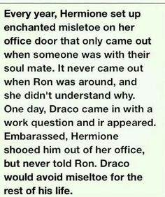 Dramione... I do NOT ship this... I do not like the shipping of this, but I do like hearing how clever Hermione is