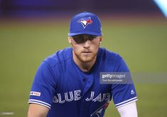 Brandon Drury of the Toronto Blue Jays warms up before the start of MLB game action against the Detroit Tigers at Rogers Centre on March 2019 in Toronto, Canada. Rogers Centre, Mlb Games, Golf Stores, Toronto Blue Jays, Detroit Tigers, Baseball Cards, Sports, Athletes, Bass