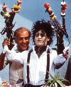 """Edward Scissorhands"" (1990) >> Johnny Depp & Alan Arkin :-)"