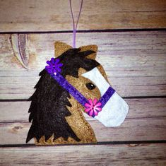 Love!! Christmas Horse Felt Candy Cane Holder by WillowHillKids on Etsy