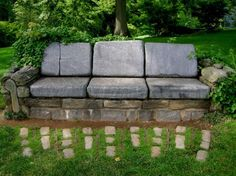 Stone Sofa in the Garden :p - Click image to find more Gardening Pinterest pins