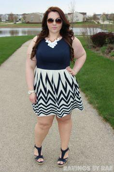 Plus Size OOTD: Navy Graduation Dress
