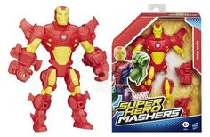 Make your own hero mash-up with this customizable Iron Man figure! He looks just like the high-tech superhero, armor and all. But what if Iron Man had even more powers, like a clawed Wolverine hand or a Spider-Man leg? All his parts are removable so you can swap parts from other Super Hero Mashers figures (sold separately)! - To order: http://www.shopaholic.com.ph/new.html#!/Marvel-Super-Hero-Mashers-Iron-Man-Figure/p/49534396/category=6966429