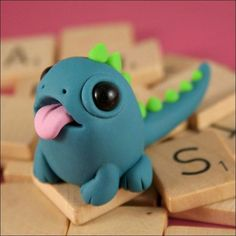 Cute miniature monsters made from polymer clay