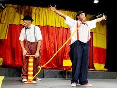 """De 8 de junho a 14 de julho, a Cia Circo da Boleia apresenta no Teatro Alfredo Mesquita a peça infantil """"Tarde de Palhaçadas"""", que presta uma homenagem aos palhaços brasileiros. As apresentações acontecem aos sábados e domingos, às 16h, e tem ingressos a R$10."""