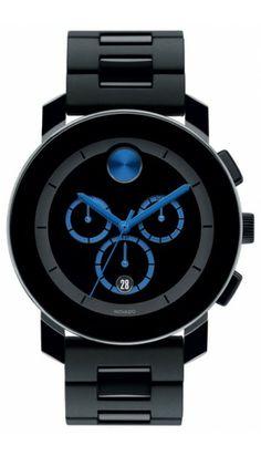 Movado Black & Cobalt Blue