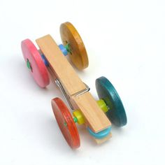 Cute for Operation Christmas Child Boxes: Child-made wooden clothespeg car and cardboard racing ramp. Kids Crafts, Summer Crafts, Projects For Kids, Diy For Kids, Craft Projects, Operation Christmas Child, Clothes Pegs, Camping Crafts, Button Crafts