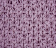 Ribboned Stockinette Stitch - Stitch Sample