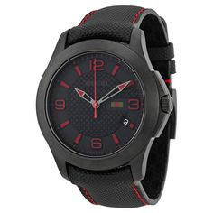 Gucci Men Casual Watch YA126224 Black Analog Our Price:$664.95 ewatchesusa.com